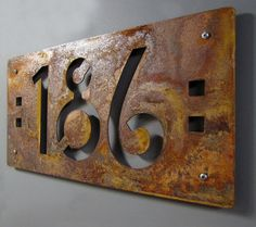 Items similar to Craftsman Style House Numbers: CUSTOM Mission Style Address Sign in Rusted Steel on Etsy Victorian House Numbers, Victorian Homes, House Address, Address Plaque, Address Signs, Steel House, Craftsman Style, Craftsman House Numbers, Craftsman Decor