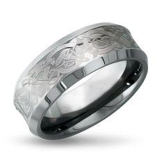 Bridal & Wedding Party Jewelry Dashing Titanium Ridged Edge 8mm Brushed Wedding Ring Band Size 9.00 Classic Flat Engagement & Wedding