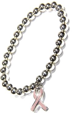 Get the perfect gift Sterling Silver Beaded Bracelet with Fleur De Lis and sold by 2 Lisas Boutique Arm Candy Bracelets, Beaded Bracelets, Sterling Silver Bead Bracelet, Awareness Ribbons, Chain, Pink, Gifts, Jewelry, Presents