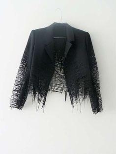 Elvira ' t Hart - lasercut drawn jacket