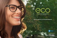 Summer Rayne Oakes is wearing style 3001 color black for Eco Eyewear  www.modo.com www.eco-optics.com