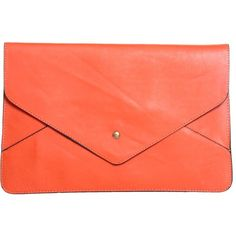 Rosa Large Soft PU Envelope Clutch (56 BAM) ❤ liked on Polyvore featuring bags, handbags, clutches, purses, accessories, bolsas, red handbags, evening hand bags, evening purses and red evening purse