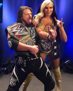 The Phenomenal WWE Champion AJ Styles and SmackDown Women's Champion 🏆 Charlotte Flair Wrestling Stars, Women's Wrestling, Female Wrestlers, Wwe Wrestlers, Aj Styles Wwe, Wwe Raw And Smackdown, Charlotte Flair Wwe, Wwe Pictures, Catch