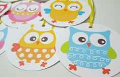 Baby Owl Gift Tags. $3.50, via Etsy.