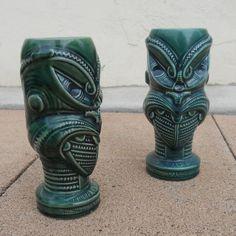 Tiki Hawaii, Tiki Lounge, Tiki Bars, Tiki Room, South Pacific, Cupping Set, Cups, Tropical, Mid Century