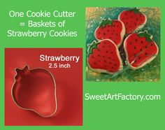 Create an edible Strawberry Cookie Basket! SweetArtFactory.com