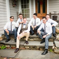 Casual Groomsmen Attire // photo by: Cly Creation // http://www.theknot.com/weddings/album/a-rustic-cultural-wedding-in-rhinebeck-ny-137670
