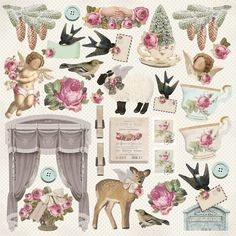 Tilda paper for scrapbooking collection of Winter Memorie
