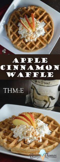 Apple Cinnamon Waffle - THM:E, low fat, sugar free, gluten/nut free with dairy free suggestion