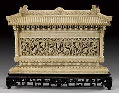 Asian bone carving art