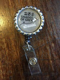 256 Shades of Grey Ultrasound Badge Reel by EatSleepScan on Etsy
