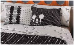 Do something similar.   Amazon.com - Disney Mickey Mouse Best Seller Sheet Set (QUEEN) - Pillowcase And Sheet Sets