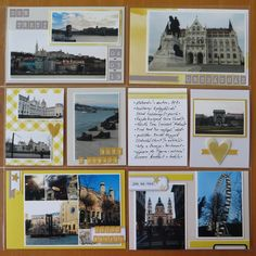 And here´s the right page to last one show - the left one . Again it´s the yellow/grey combination which works perfectly when combined toge. Happy Mail, Budapest, Gallery Wall, Polaroid Film, Pocket, Merry Mail, Bag