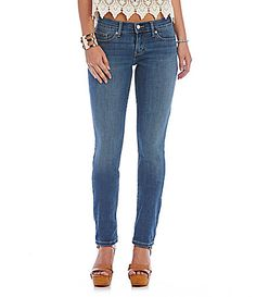 Levis 524 Skinny Jeans #Dillards cotton/poly/viscose/spandex grassy bluff wash sz1 32L 39.99