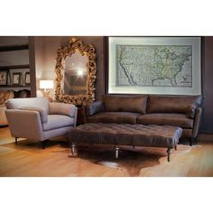 Piper Grand Leather Sofa - 17920820 - Overstock.com Shopping - Great Deals on I Love Living Sofas & Loveseats