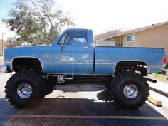 Here it is! My tires wasn't this big,  but this is exactly like my old truck same color and everything.