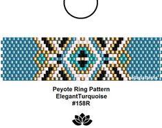 peyote ring pattern,PDF-Download, #158R, beading pattern, beading tutorials, ring pattern,pattern design,ring bellepatterns,pdf file,peyote