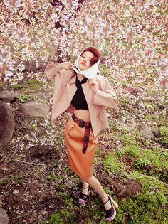 Han Kyung Hyun & Seon Hwang for Vogue Korea May 2015 miu miu