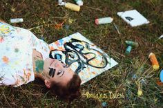 Briana Owen Photography, senior photography, Nashville senior photography, creative senior photography, artist photography, paint splatter photography, colorful paint splatters senior picture