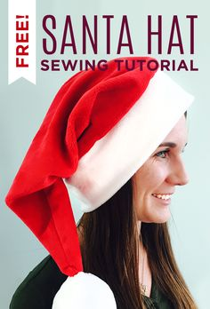 Easiest Santa Hat Ever! - Easy DIY Project sewing tutorial- YouTube made with Cuddle fabric Cuddle 3 Red http://www.shannonfabrics.com/cuddle/solids/solid-cuddle-3-sup-reg-sup-br-red and Snow White http://www.shannonfabrics.com/cuddle/solid-cuddle-3-snow-white!  @craftygemini  for @missouriquiltco  -  http://www.shannonfabrics.com/cuddle/solids - https://www.youtube.com/watch?v=LDcN4b6JLBc&list=PL1C2107EB61983828