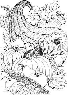 From: Creative Haven Autumn Scenes Coloring Book | Dover Publications