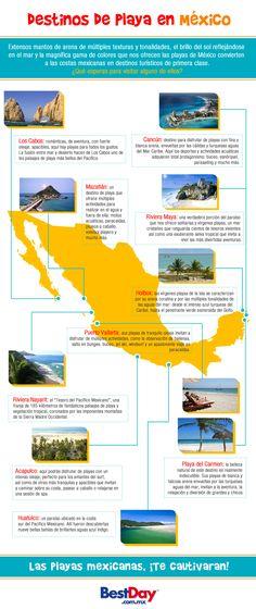 #Destinos de #Playa en #México ¡a elegir!