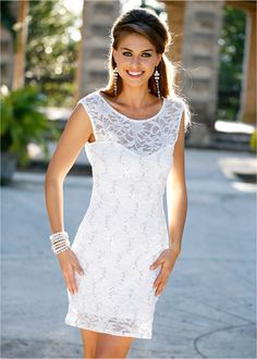 Cute Dresses, Casual Dresses, Flirt, Pullover, Elegant, White Dress, My Style, Clothes, Nice Outfits