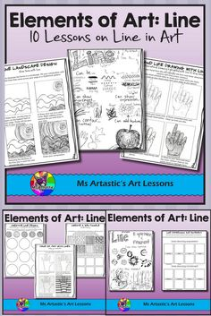 10 Lessons on Line for your Middle School and High School students! Students will learn and apply the elements of art through a variety of instructional and informational lessons and worksheets! Teach the Element of Art: Line to your Middle School or High School Class. Learn a variety of techniques and apply the element to art projects or sketchbook work.