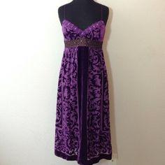 REDUCED  Nicole Miller Collection Dress 82% rayon 18% silk... Dark purple feels like velvet... Gorgeous for a wedding!!! Nicole Miller Dresses