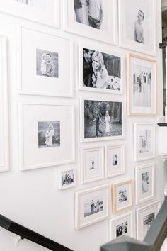 Staircase Gallery Wall Staircase Gallery Wall Gallery wall made easy: AEEK! I'm so excited to fiStaircase Gallery Wall al Gallery Wall Staircase, Staircase Wall Decor, Staircase Design, Stairway Picture Wall, Gallery Walls, Stair Photo Walls, Stair Walls, Inspiration Wall, Hallway Decorating
