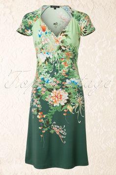 King Louie Gina Oriental Dress Green 106 49 12462 20140715 0004W
