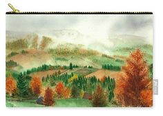 Transylvanian Autumn Carry-all Pouch featuring the painting Transylvanian Autumn by Olivia C