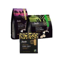 Klassisk økologisk og Fairtrade merket te i pyramideposer