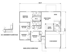 Plan No.366101 House Plans by WestHomePlanners.com 1510 sqft