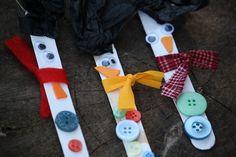 Craft Stick Snowman Ornaments - happy hooligans - easy Christmas Craft