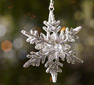 Pottery Barn - Metallic Beaded Snowflake Ornament - 19.50