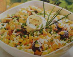 Sałatka z wędzonej ryby i kukurydzy