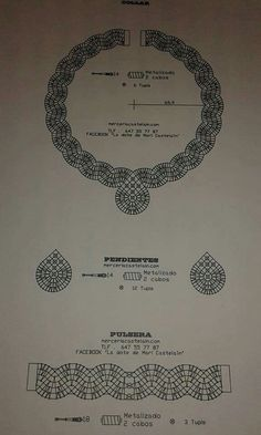 Ppp Más Lace Earrings, Lace Necklace, Lace Jewelry, Jewelery, Handmade Jewelry, Bobbin Lace Patterns, Bead Loom Patterns, Jewelry Patterns, Hairpin Lace Crochet