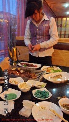 korean BBQ in Dandong