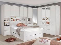 Rivera Alpine White Overbed Unit is fantastic way to maximum bedroom storage. Best quality white overbed unit available here on Furniture Direct UK Fitted Bedroom Furniture, Fitted Bedrooms, Dining Room Furniture Sets, Bedroom Decor, Bedroom Built Ins, Small Master Bedroom, Modern Bedroom, White Bedroom, Corner Wardrobe