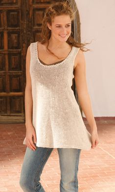 Strikket tunika fra Drops---this would be perfect to wear over a long sleeve tee when it's not too cold.