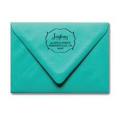 Framed Name Address Stamp, $35.00 by Stephanie Creekmur