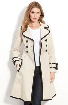 kate spade new york 'tolinder' contrast trim lady trench coat $698 @Nordstrom