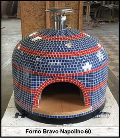 This classically styled pizza oven in Polo Blue and Candy Apple Red was made in our factory in California and is bound for its new home in New York. A wood fired beauty that will travel from sea to shining sea! Pizza Oven Outside, Home Pizza Oven, Pizza Oven Outdoor, Wood Oven, Wood Fired Oven, Wood Fired Pizza, Oven Design, Patio Design, Ovens