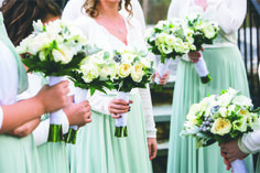 Winter white bouquets | Winter wedding at Lakeview Pavilion featured in January 2017 Southern New England Weddings Magazine | Flowers by Judy's Village Flowers | Photos by Sabrina Scolari Photography