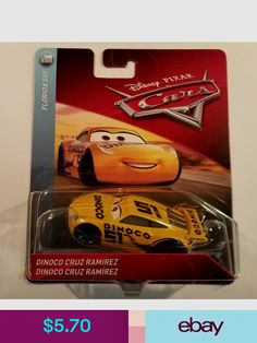 Disney Pixar Cars 3 Cruz Ramirez Dinoco # 51 Diecast Mattel Scale New 2018 Boy Car Room, Cruz Ramirez, Messi Soccer, Play Vehicles, Baby Shower Niño, Linen Suit, Disney Pixar Cars, Hot Wheels Cars, Cars And Motorcycles