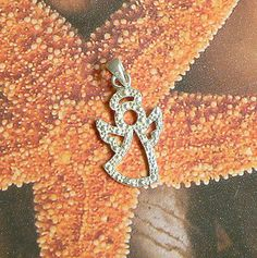 STERLING SILVER ANGEL PENDANT .925 / NICKEL FREE