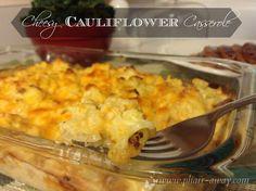Cheesy Cauliflower; A dish that looks and tastes like macaroni and cheese but made with cauliflower.; pharr-away.com