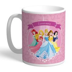 Personalised with Any Name This official and fully licensed Disney mug is perfect for any dedicated Disney fan. Your personalisation is merged with the stylish design and is printed onto the 11oz ceramic mug.