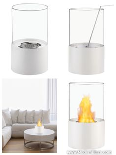 If space is at a premium, you cannot go wrong with the addition of this Circum White Tabletop Ventless Ethanol Fireplace to your modern home.